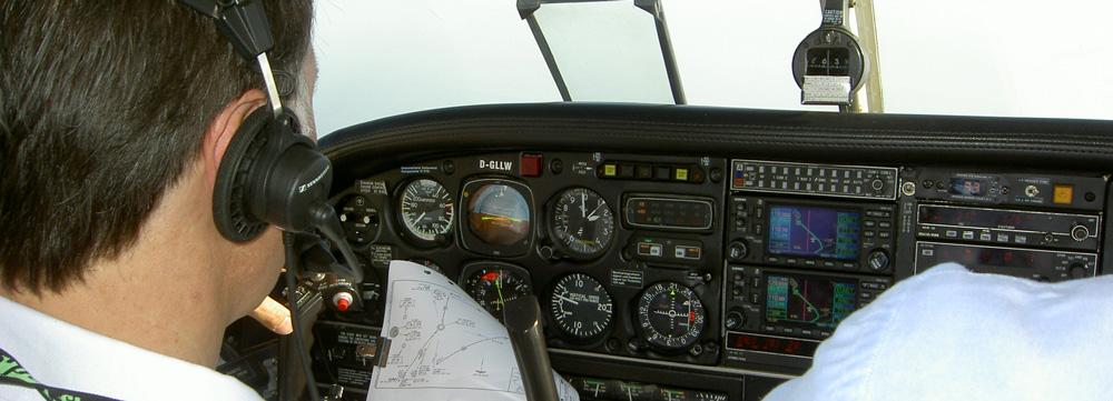 Cabina di comando di uno degli aerei